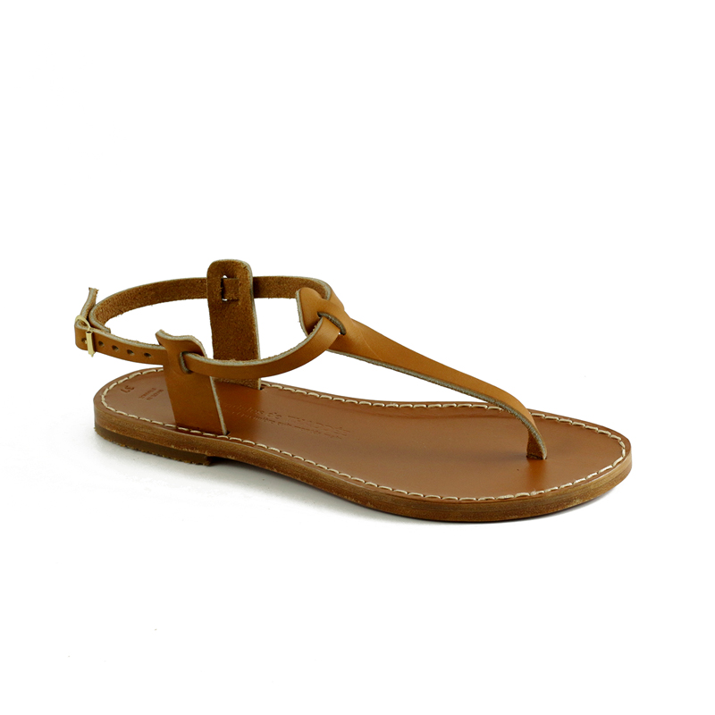 sandales cuir naturel