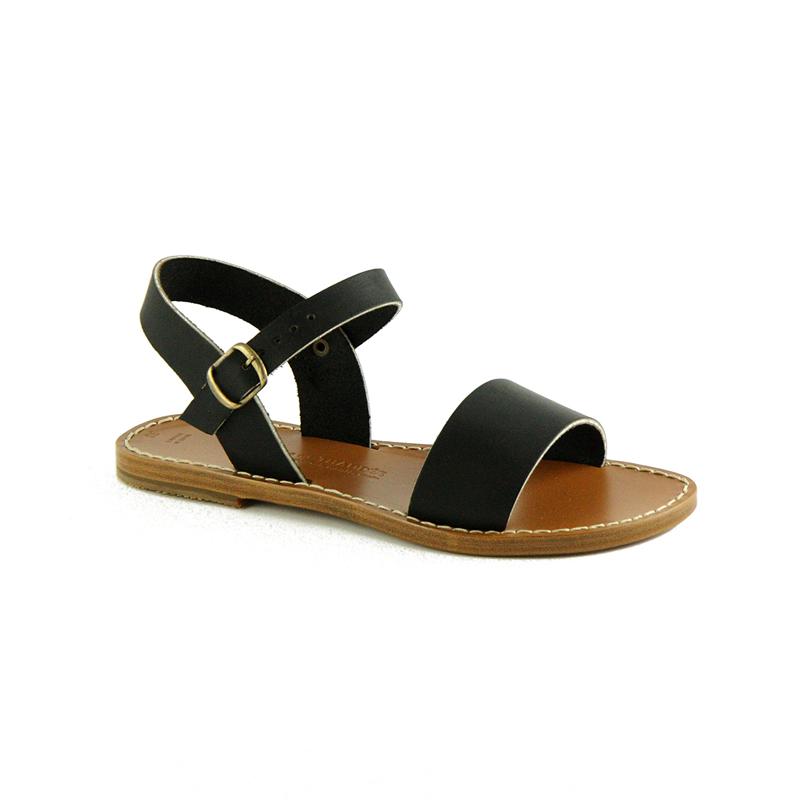 Sandales cuir, Noir
