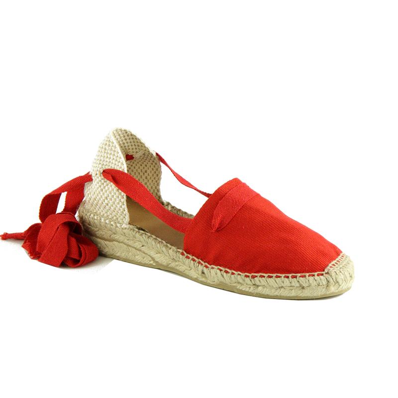 espadrilles anglet rouge sandales de thadd e. Black Bedroom Furniture Sets. Home Design Ideas