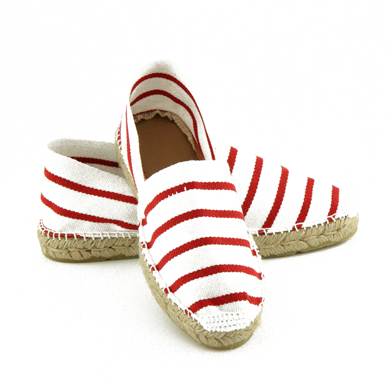 espadrilles bayonne marini re rouge sandales de thadd e. Black Bedroom Furniture Sets. Home Design Ideas